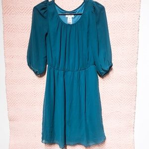 Sweet storm olive green size small dress